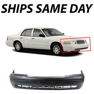 New Primered Front Bumper Cover Fascia For 1998 2011 Ford Crown Victoria 98 11