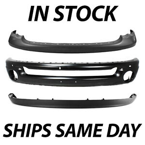 New Steel Front Bumper Face Bar Cover Kit For 2003 2005 Dodge Ram 1500 2500 3500