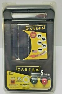 Zareba Esp5m z 5 mile Solar Low Impedance Electric Fence Charger New