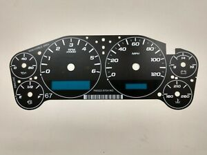 Gm Chevy Truck Suv Cluster Black Gauge Face Overlay 2007 2013 New Aftermarket