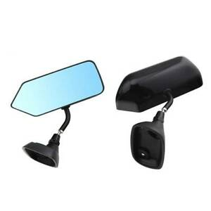 2 Pack Universal Rearview Mirror Carbon Fiber Modified Wide Angle Rear View New
