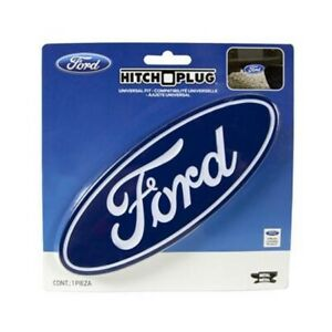 Ford Blue Logo Trailer Hitch Plug Cover Universal Hitch Receiver