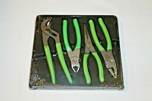 Snap On Cutter And Pliers Set Green 4 Pcs Pl400bg Brand New