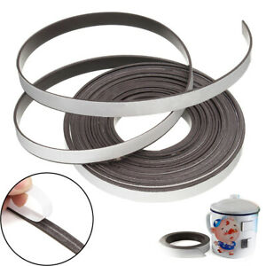 1m 5m Flexible Rubber Self Adhesive Magnet Magnetic Tape Strip Craft 10mmx1 5mm