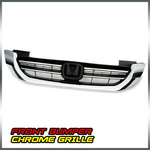 For Honda Accord 2013 2015 Chrome Front Bumper Grill Grille Assembly Factory