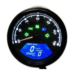 12000rpm Motorcycle Speedometer Led Digital Odometer Backlight Odometer