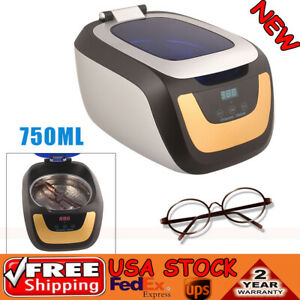 0 75l Industrial Ultrasonic Cleaner Jewelry Disk Dental Cleaning Machine Usa
