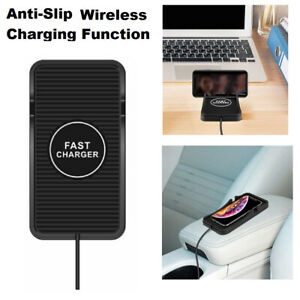 Us Wireless Automatic Clamping Smart Sensor Car Phone Holder Fast Charger Mount