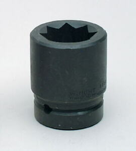 Wright Tool 1 Drive Double Square Impact railroad Socket 8 point