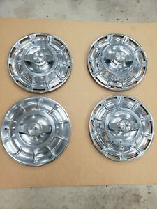 Original Set Of 1956 1957 1958 Corvette 15 Spinner Hubcaps In Driver Condition