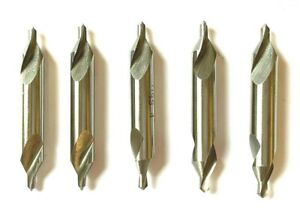 4 60 Deg Center Drill combined Drill Countersink 5 Pack