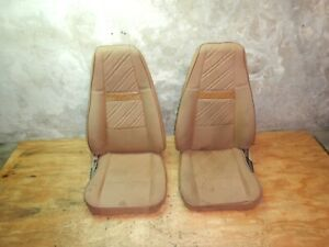 Jeep Wrangler Yj 91 95 Tan Cloth Recliner Front Bucket Seat Driver Passenger