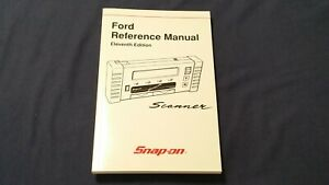 Snap On Mt2500 Mtg2500 Scanner Ford Reference Manual Eleventh Edition Nos 2001