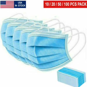 Usa Made Blue Face Mask Mouth Nose Protector Masks Filter New Free Shipping