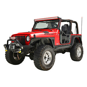 Off Road Safari Tube Door With Reflection Mirror Fit For 97 06 Jeep Tj Wrangler
