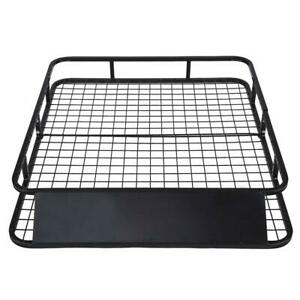 48 X 40 Universal Roof Rack Car Top Cargo Basket Black New And High Quality55