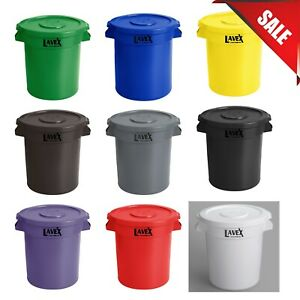 Pick Your Color 10 Gallon Heavy Duty Commercial Round Ingredient Bin Trash Can