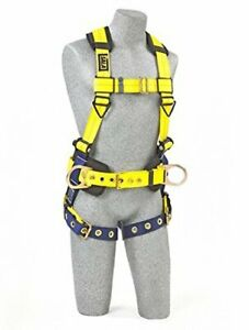 3m Dbi sala 1102201 Construction Harness Back And Side D rings Size Small
