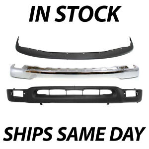 New Chrome Front Bumper Face Bar Valance Combo Kit For 2001 2004 Toyota Tacoma