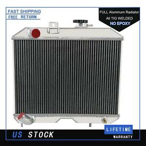 4 Row Aluminum Radiator For 1941 1952 Jeep Willys Mb Ford Gpw 1949 1950 1951