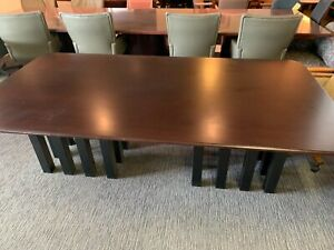 Rectangular Shape Conference Table In Espresso Color Wood
