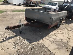 80s Chevy Truck Bed Trailer New Tires Lights Jack