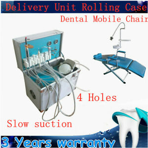Usa Dental Delivery Unit Dental Chair Scaler Mobile Handpiece Tube Cart 4 Hole