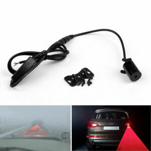 Red Car Universal Alarm Laser Fog Lamp Rear Anti Collision Warning Tail Light Us