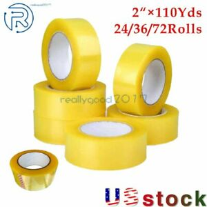 24 36 72 Rolls Clear Packing Tape Packaging Carton Sealing Tape 2 110yards Us