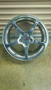 Chevy Corvette C5 2000 2004 Polished 17 18 Oem Set Of 4 Wheels Rims Front Rear