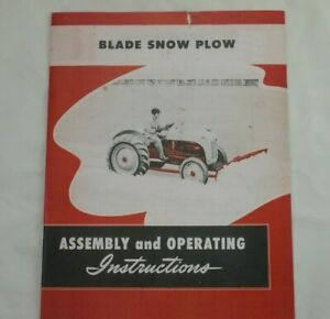 Ford Tractor Dearborn Front Mounted Blade Snow Plow 8n 2n 9n Owner s Manual