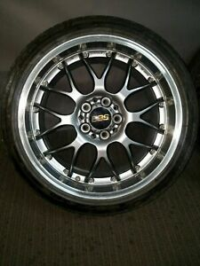 Rare Bbs Rs Gt Staggered Set 4 18x9 Et 45 F 18x9 5 Et25 R 5x114 3