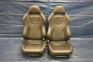 2005 Mitsubishi Lancer Evolution 8 Oem Leather Lh Rh Front Seats Wear 579