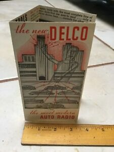 1936 Delco Auto Car Radio Head Brochure Chevy Buick Chrysler Others