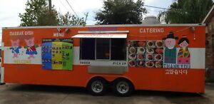 8 X 24 Food Truck Concession Trailer custom Made And Fully Loaded