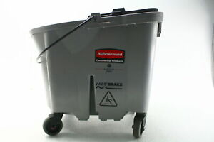 Rubbermaid Commercial 1863899 Executive Series Wavebrake Rolling Mop Bucket Gray