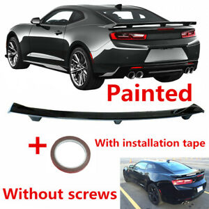 Fit For Chevrolet Camaro 16 19 Glossy Black Rear Tailgate Spoiler Factory Style