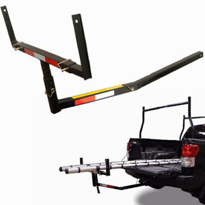 Pick Up Truck Bed Hitch Extender Extension Steel Rack Canoe Kayak Lumber W flag