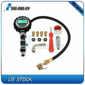 New Digital Tire Inflator With Tire Pressure Gauge 250 Psi Air Chuck For Car