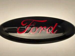 2004 2015 Ford Edge f 150 Custom Paint Emblem 9 Black Race Red Logo