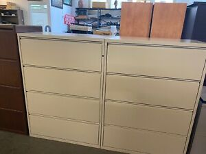 4 Drawer Lateral Size File Cabinet By Herman Miller Meridian W lock