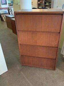 4 Drawer Lateral Size File Cabinet By Steelcase Office Furniture In Cherry Wood