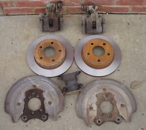 Rear Disc Brake Kit 79 93 Ford Mustang Gt 5 Lug Sn95 Calipers Turned Rotors