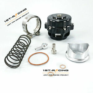 50mm Turbocharger V Band Blow Off Valve 35psi Boost Bov Aluminum Clamp Spring