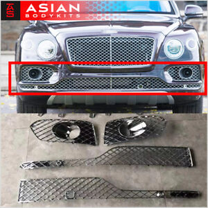 Chrome Lower Mesh For Front Bumper Of Bentley Bentayga 2015 2020