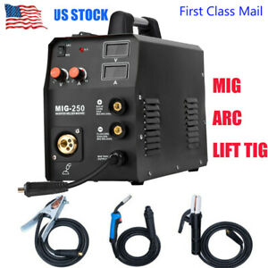 3in1 Mig Welder 200a Inverter Dc Arc Stick Lift Tig Mig Welding Machine 220v