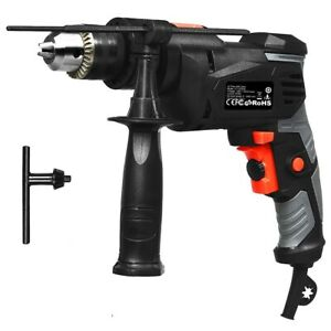 Hammer Drill Corded 1 2 Inch Electric Drill 3000 Rpm Variable Speed Reversible