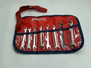 Vintage Proto Professional 8pc Angle Head Ignition Wrench Set Made In The Usa