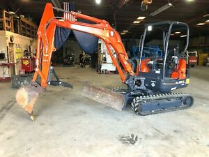 2014 Kubota Kx91 3 Mini excavator Thumb And Angle blade Video Walk around
