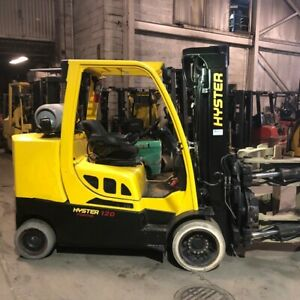 2015 Hyster S120ftprs 12000lbs Capacity Used Paper Roll Clamp Forklift
